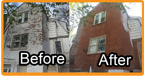 sandblasting brick before and after. residential before \u0026 after sandblasting brick and